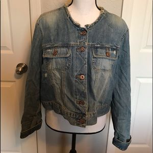 Old Navy Jean Jacket Professionally Distressed